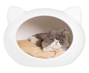 """Domek dla kota z poduszką """"White II"""""""