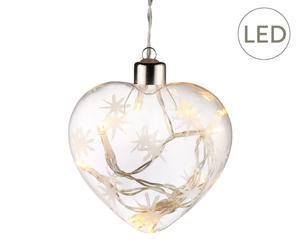 """Bombka LED """"Heart II"""", szer. 10 cm"""