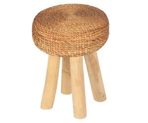 "Stołek ""Round Comfort"" Ø 35 cm, brązowy"