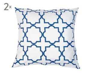 """Zestaw 2 poszewek na poduszki """"Marokko II"""", niebieski"""