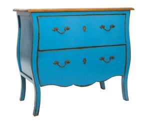 """Komoda z 2 szufladami """"Lefrance"""", niebieska"""