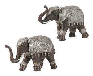 Zestaw 2 dekoracyjnych figurek słoni