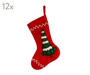 Zestaw 12 świątecznych skarpet