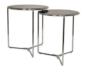 """Zestaw 2 czarnych stolików """"Diseño"""""""