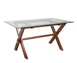 "Stół ze szklanym blatem ""Wooden Cristal"""
