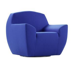 "Fotel na kółkach ""Angelo"", niebieski"