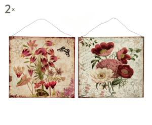 """Zestaw 4 dekoracji ściennych """"Flores"""""""