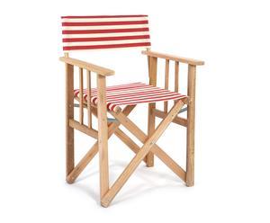"""Krzesło """"Director"""", biało-czerwone pasy"""