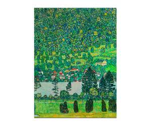 "Reprodukcja obrazu Gustava Klimta ""Wzgórze w lesie nad jeziorem Attersee"""