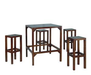 """Krzesła barowe ze stolikiem """"Brazos"""""""