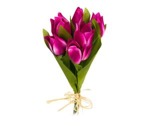 """Bukiet kwiatów sztucznych """"Tulipan"""", fuksjowy"""