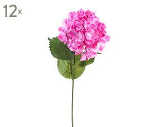 """Zestaw 12 sztucznych kwiatów """"Hortensia Violeta"""""""