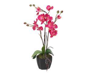 """Sztuczne kwiaty w doniczce """"Orchid"""", fuksja"""
