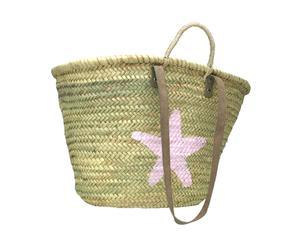 """Koszyk plażowy """"Estrella"""", beżowo-różowy"""