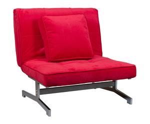 """Fotel rozkładany """"Cama"""", czerwony"""