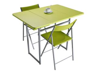 "Komplet 2 krzeseł i stolik ""Garcisa"", zielony"