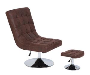 """Fotel z podnóżkiem """"Desmonte"""", brązowy"""