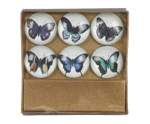 "Zestaw 6 magnesów ""Papillons"""
