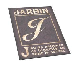 """Typografia na blasze """"JARDIN"""""""