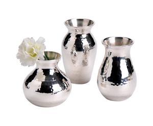 """Zestaw 3 wazonów """"Silver"""""""