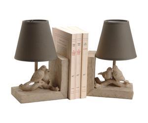 "Zestaw 2 lamp z podpórkami na książki ""Oiseaux"""