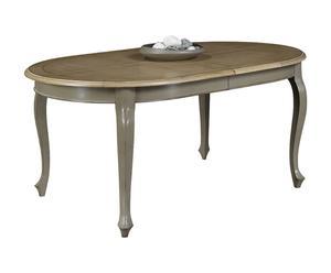"""Owalny stół """"Biche"""", szaro-brązowy"""