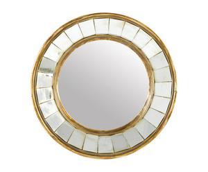"Okrągłe lustro ""Facette"", złote"