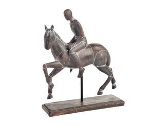 """Figurka jeźdźca na koniu """"Jockey"""", brązowa"""