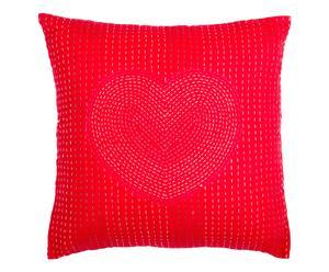 """Poszewka na poduszkę """"Coeur"""", czerwona"""