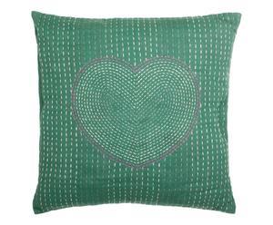 """Poszewka na poduszkę """"Coeur"""", zielona"""