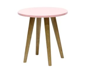 """Stolik """"Ronde"""", z różowym blatem"""