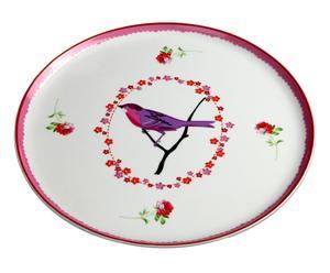 """Talerz na ciasto """"Oiseaux rosé"""""""