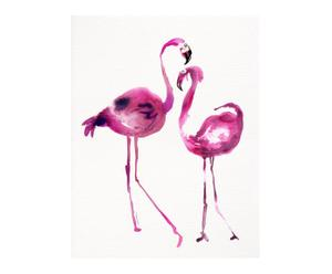 "Grafika ""Pink Flamingo II"""