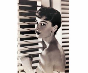 """Fotografia na płycie mdf """"Audrey Hepburn"""" 46 x 65 cm"""