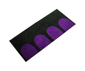 """Dywan """"Cosmos"""" 70 x 150 cm, czarno- purpurowy"""