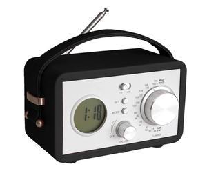 """Radiobudzik """"Vintage"""", czarno-biały"""