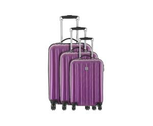 "Komplet 3 walizek na kółkach ""Wagram"", fioletowy"