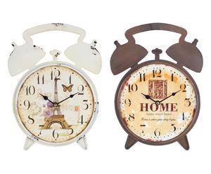 """Zestaw 2 zegarków ściennych """"Home"""" 34 x 23 cm"""