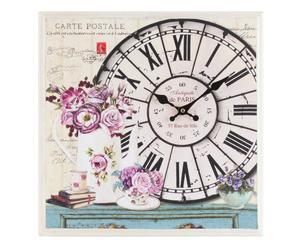 """Zegar ścienny """"Carte Postale"""", wielokolorowy"""