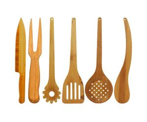 """Komplet sztućców i akcesoriów kuchennych """"Bamboo"""""""