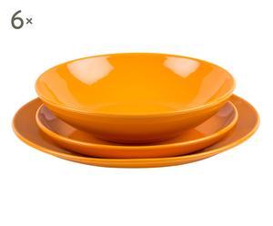"""Komplet 18 talerzy obiadowych """"Orange"""""""