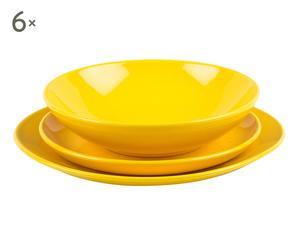 """Komplet 18 talerzy obiadowych """"Yellow"""""""