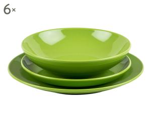 "Komplet 18 talerzy obiadowych ""Green"""