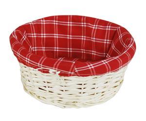"""Okrągły koszyk """"Rosso"""", czerwono-biały"""