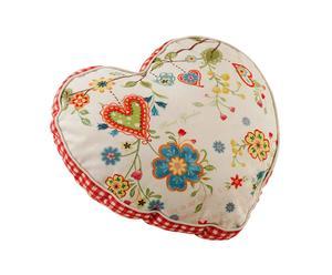 CUSCINO in cotone heart - 50x41x35 cm
