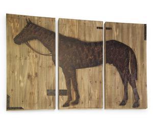 """Dekoracja ścienna """"Horse"""", 3 cz."""