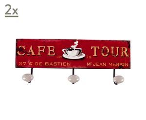 """Zestaw 2 wieszaków dekoracyjnych """"Cafe"""""""
