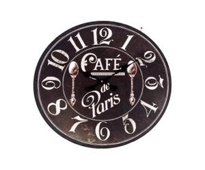 "Zegar ścienny ""Paris"", czarny"