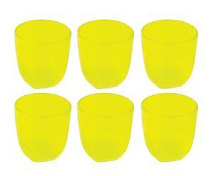 """Zestaw 6 szklanek """"Mexico"""", żółty"""