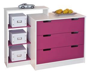 """Regał z szufladami """"Otta"""", różowy"""